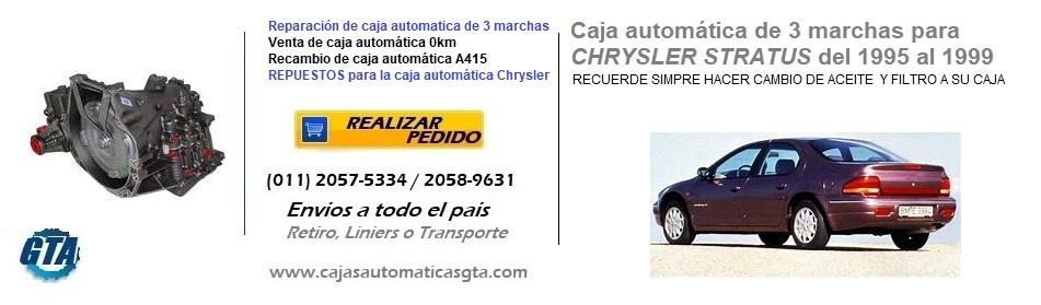 CAJA AUTOMATICA STRATUS DE 3 MARCHAS